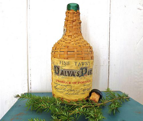 All Bottled Up… Vintage Demijohn Wicker Bottle Wicker Wrapped Wine Bottle Wicker Bottle - InWithTheOld