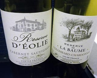 Reserve D'Éolie Cabernet Sauvignon & Reserve de La Baume Colombard Chardonnay