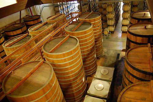 Huge Barrels. For fermentation