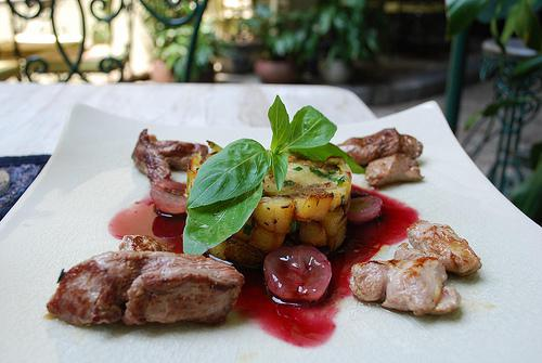 Duck with Grapes - Green Tangerine VND169k set lunch