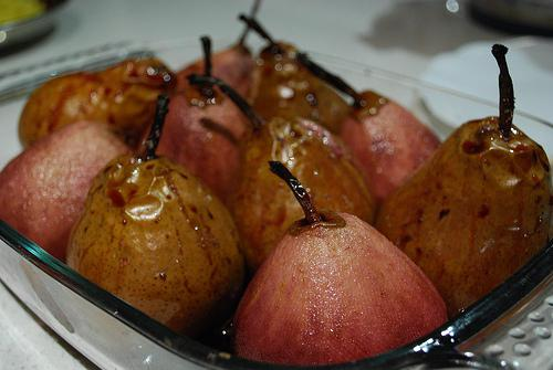 Mum's Baked Pears in Red Wine