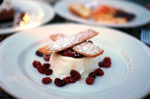 Dessert: Limocello Panna Cotta