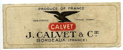 J. Calvet and Cie Bordeaux (France) Calvet Label ( n.d.)