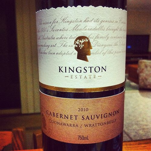 Kingston Estate Cabernet Sauvignon 2010 Coonawarra/Wrattonbully