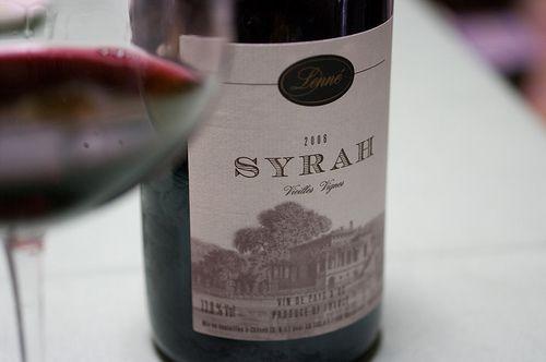 Syrah from Lenné, Vin de Pays d'Oc, Languedoc-Roussillon, France