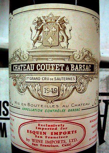 1949 Chateau Coutet a Bar
