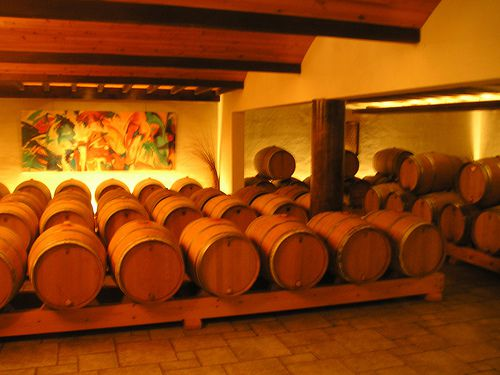Barrell Room at Domaine Lapeyre B?arn