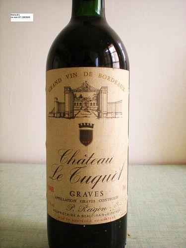 Bordeaux wine: chateau le tuquet 1988, grand cru class? graves