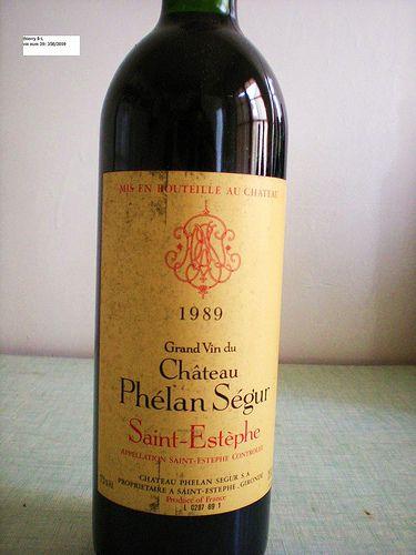 Bordeaux wine: chateau phelan segur 1989, cru bourgeois saint estephe