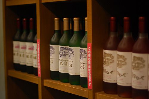 wines on the shelf