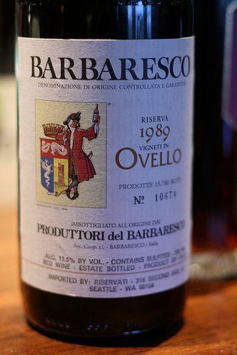 1989 Ovello Riserva Produttori del Barbaresco