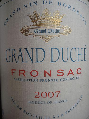 grand duch? fronsac 2007