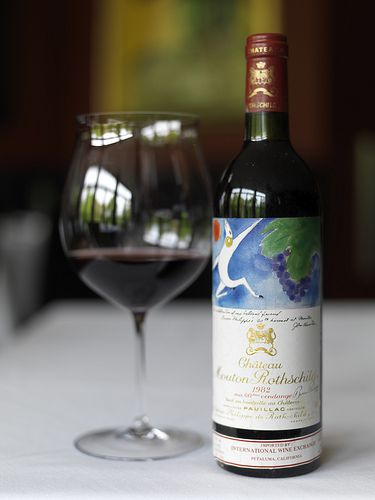 1982 Chateau Mouton-Rothschild at Troquet